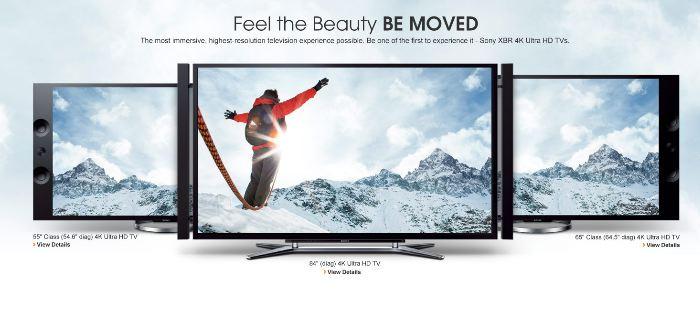 Sony julkaisi 55 sekä 65-tuuman 4K televisioiden hinnat