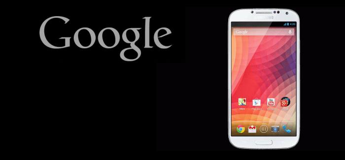 """Googlen Samsung Galaxy S4 julkaistu: """"Alkuperäinen Android Kokemus"""""""