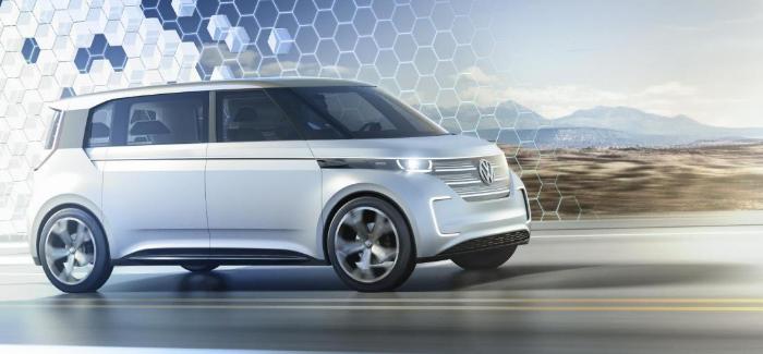 Volkswagen julkaisi uuden microbus BUDD-e sähköauton